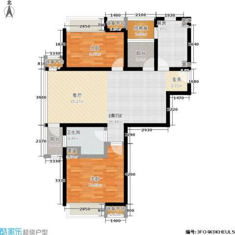 浦江华侨城2室0厅1卫1厨92.00㎡户型图