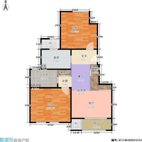 乾耀东港2室0厅1卫1厨88.00㎡户型图