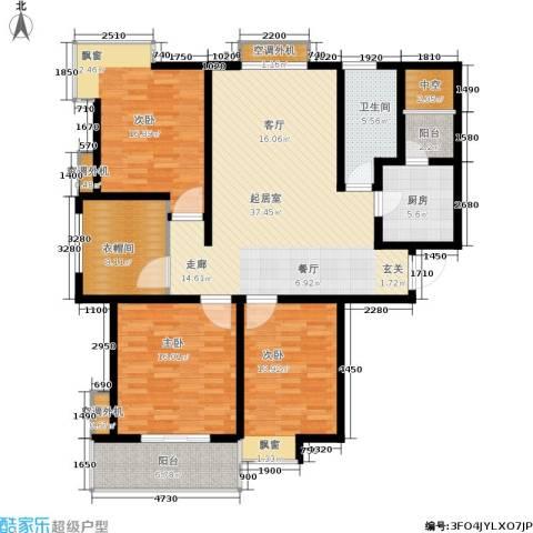 广厦水岸东方3室0厅1卫1厨133.00㎡户型图