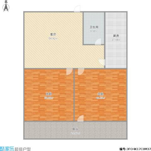 建设路园丁小区2室1厅1卫1厨248.00㎡户型图