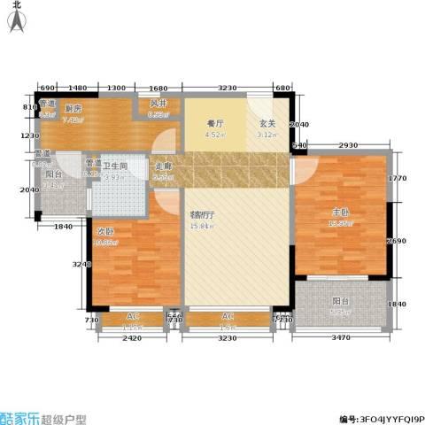 碧桂园欧洲城2室1厅1卫1厨89.00㎡户型图