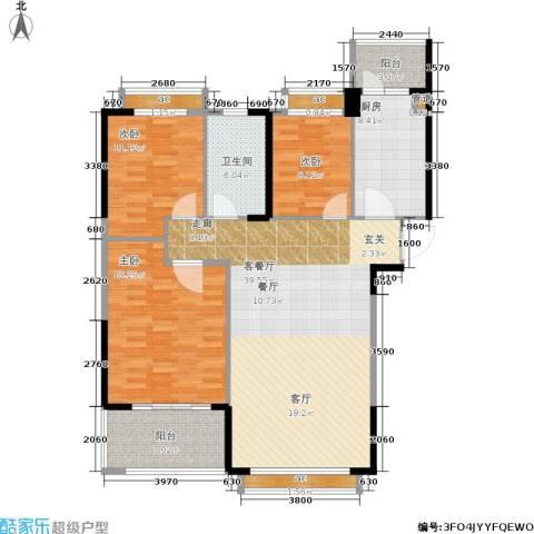 碧桂园欧洲城3室1厅1卫1厨116.00㎡户型图