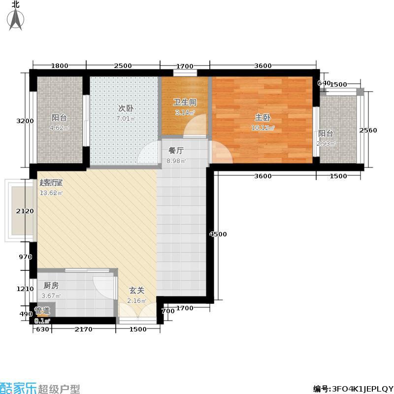 汉城壹号76.00㎡L2/M4户型2室2厅