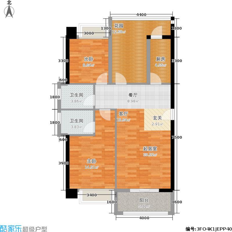 汉城壹号112.54㎡2号楼A1户型3室2厅