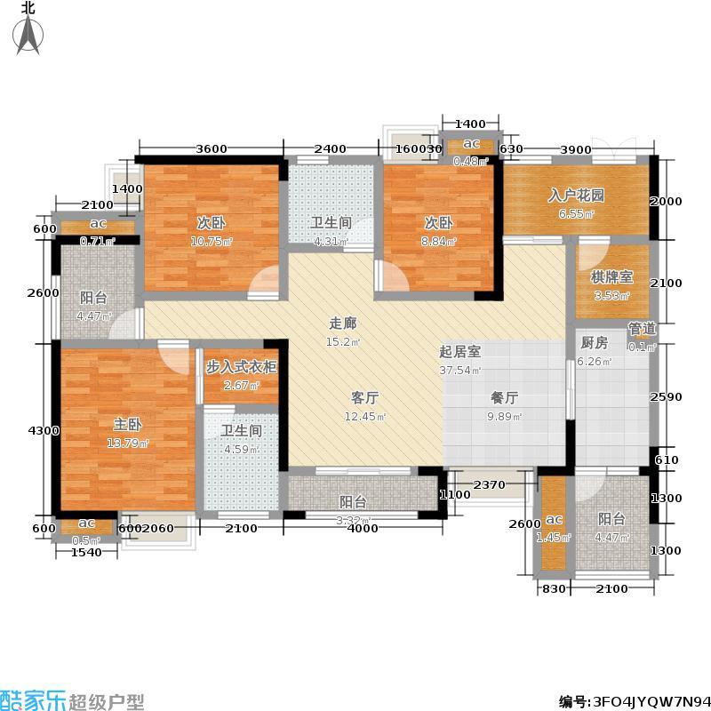 联发瞰青150.38㎡二期105栋标准层2号房户型