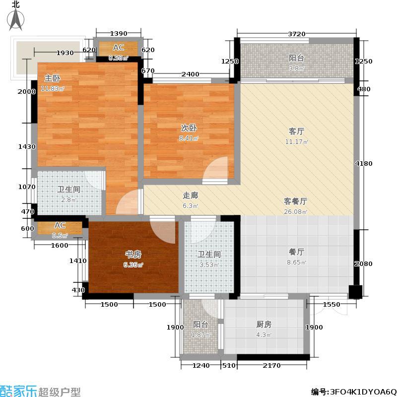 香颂城82.50㎡11-1-A(11-3-A)户型