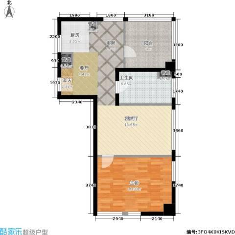 铂金公馆1室1厅1卫0厨76.00㎡户型图