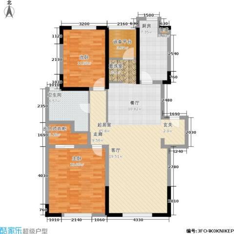 春申景城MID-TOWN2室0厅1卫1厨110.00㎡户型图