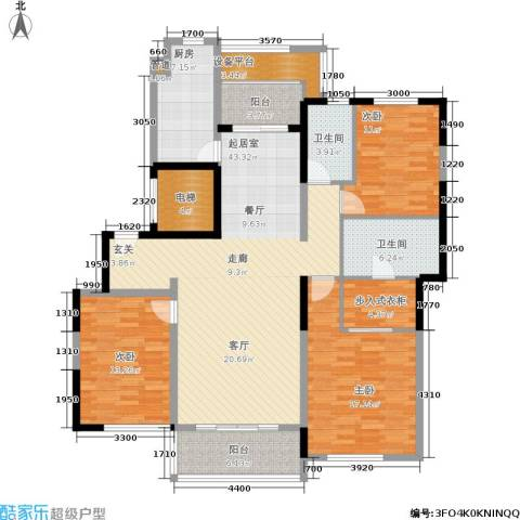 春申景城MID-TOWN3室0厅2卫1厨142.00㎡户型图