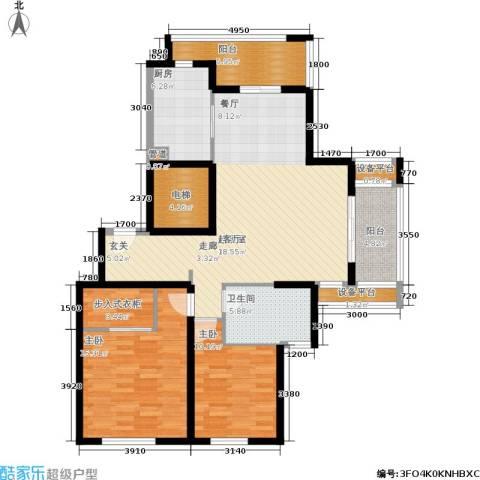 春申景城MID-TOWN2室0厅1卫1厨108.00㎡户型图