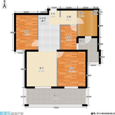 春申景城MID-TOWN2室0厅1卫1厨106.00㎡户型图