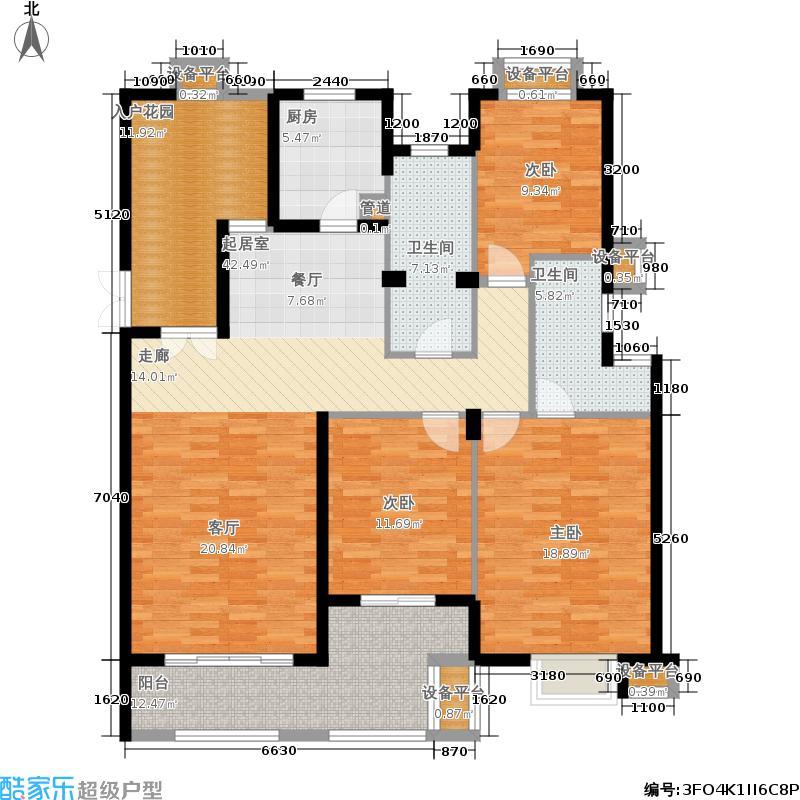 达安上品花园146.00㎡C2户型2室2厅