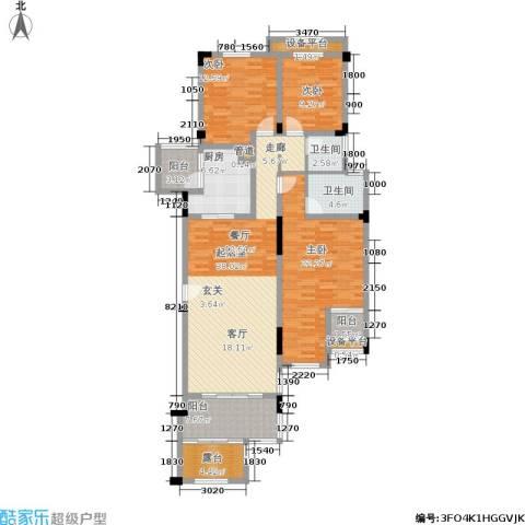 金科天湖小镇3室0厅2卫1厨132.00㎡户型图