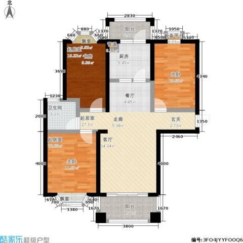 金城丽景1室0厅1卫1厨105.00㎡户型图
