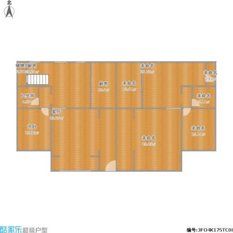 京津新城别墅1室1厅1卫2厨282.00㎡户型图