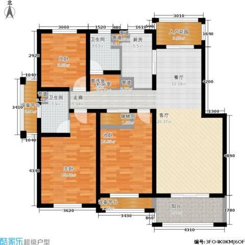 海上纳缇3室0厅2卫1厨126.00㎡户型图