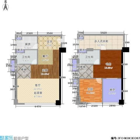 佳兆业城市广场2室0厅2卫1厨118.60㎡户型图