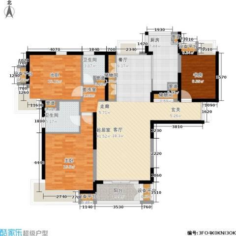 春申景城MID-TOWN3室0厅2卫1厨122.00㎡户型图