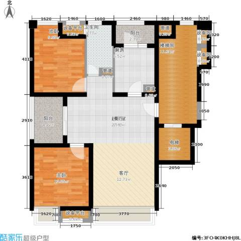 浦江华侨城2室0厅1卫1厨97.00㎡户型图