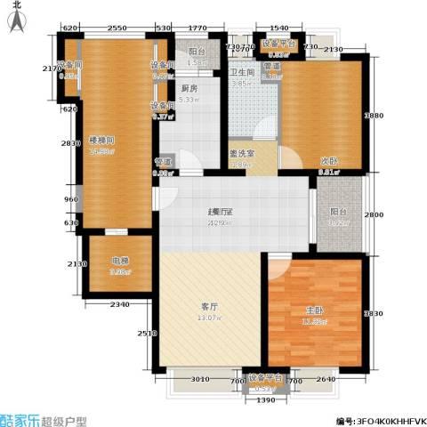 浦江华侨城2室0厅1卫1厨101.00㎡户型图
