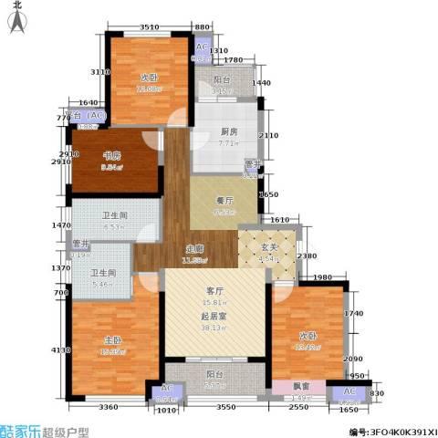 中建溪岸澜庭4室0厅2卫1厨138.00㎡户型图