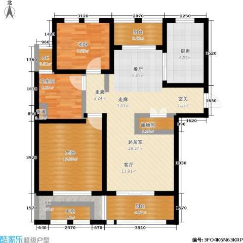 亿丰赛格数码城2室0厅1卫1厨90.00㎡户型图