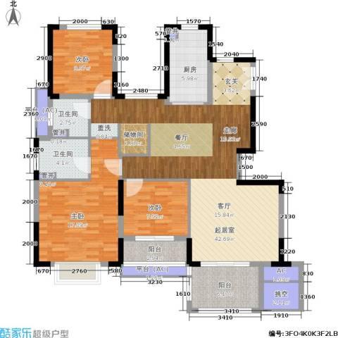 佳兆业城市广场3室0厅2卫1厨120.00㎡户型图