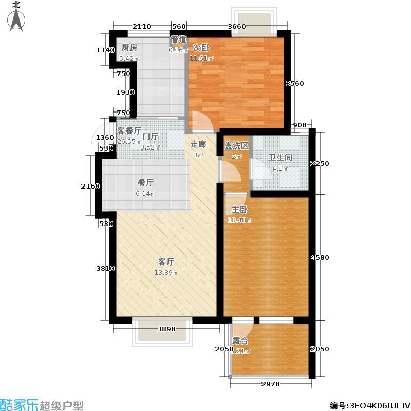 北京城建·琨廷88.88㎡北京城建・琨廷C2户型