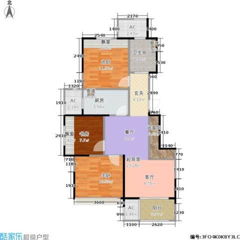 乾耀东港3室0厅1卫1厨90.00㎡户型图