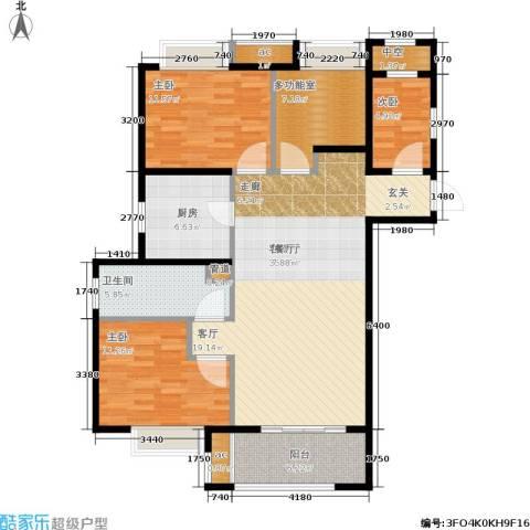 万科中环国际城海上传奇3室1厅1卫1厨105.00㎡户型图
