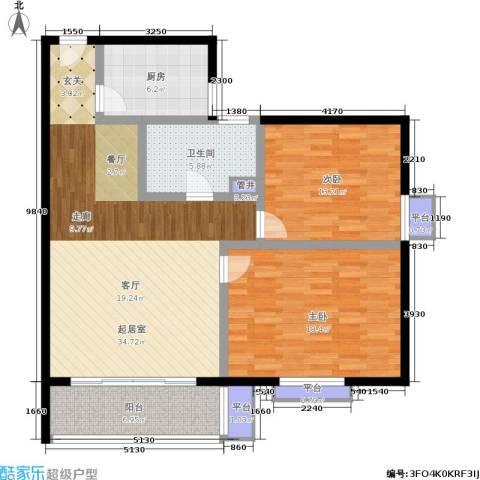 宝宸共和家园2室0厅1卫1厨99.00㎡户型图