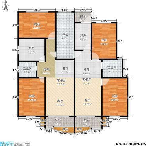 荣鑫公寓4室2厅2卫2厨123.00㎡户型图