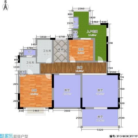 佳兆业城市广场2室0厅2卫0厨145.00㎡户型图