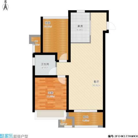 万科城2室1厅1卫1厨99.00㎡户型图