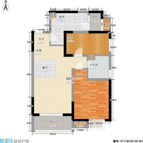 凯德新视界2室1厅1卫1厨84.00㎡户型图