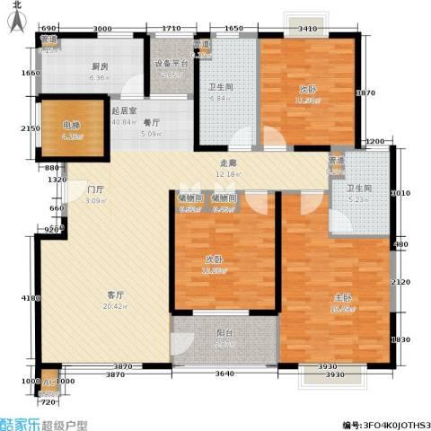 嘉乐东润舒庭3室0厅2卫1厨128.00㎡户型图