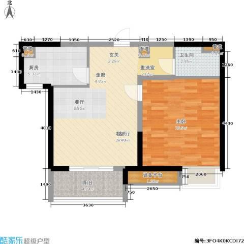 凯德新视界1室1厅1卫1厨59.00㎡户型图