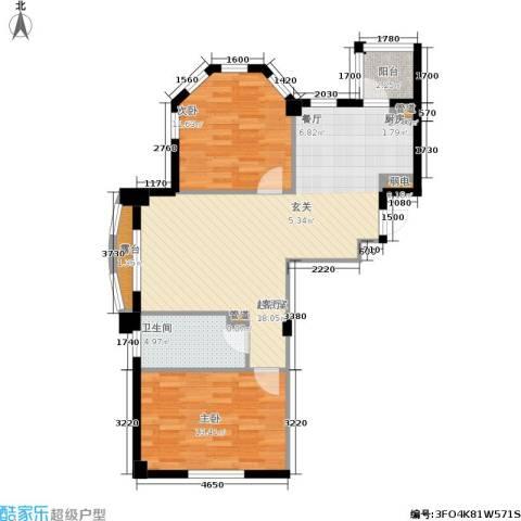 金湾新城B区二期2室0厅1卫0厨75.00㎡户型图