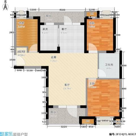联投半岛3室0厅1卫1厨108.00㎡户型图