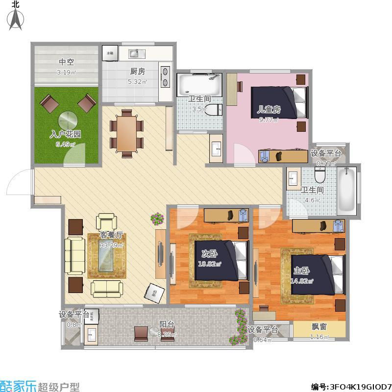 合肥圣联香御公馆C3+改后平面布置图