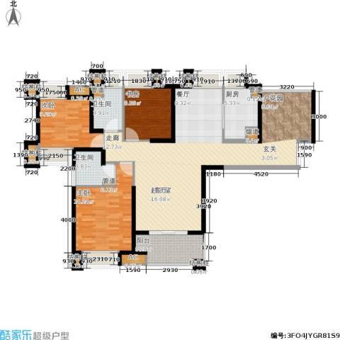 融侨锦江3室0厅2卫1厨152.00㎡户型图