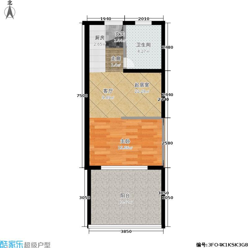 三亚金棕榈41.33㎡三亚·金棕榈2、3号楼C户型1室1厅
