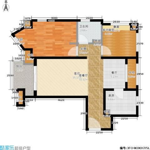 万科中环国际城海上传奇1室1厅1卫1厨83.00㎡户型图
