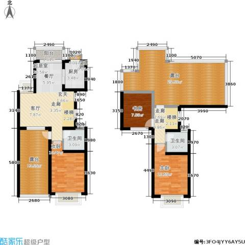 瑞景国际3室0厅2卫1厨126.00㎡户型图