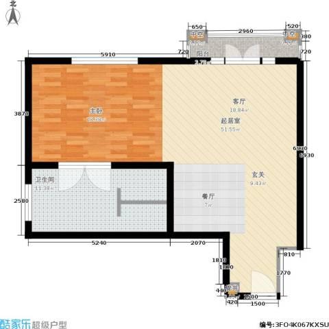 汤INN酒店式公寓1卫0厨74.00㎡户型图
