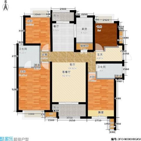 万科中环国际城海上传奇4室1厅2卫1厨145.00㎡户型图