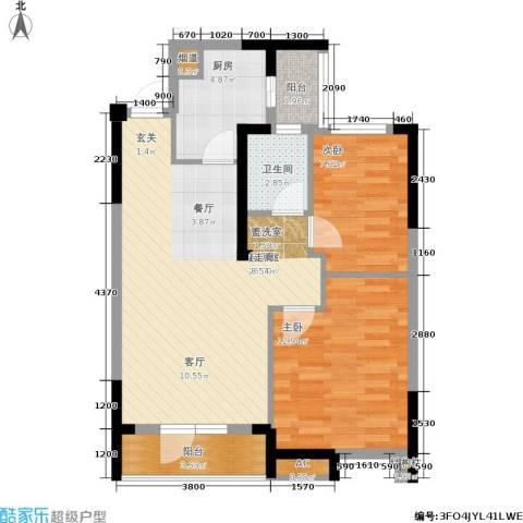 联投半岛2室0厅1卫1厨86.00㎡户型图