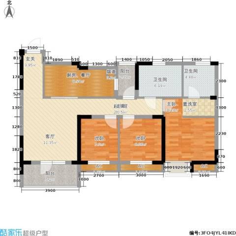 联投半岛3室0厅2卫0厨118.00㎡户型图