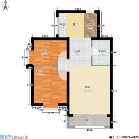 水木康桥一期2室1厅1卫0厨83.00㎡户型图