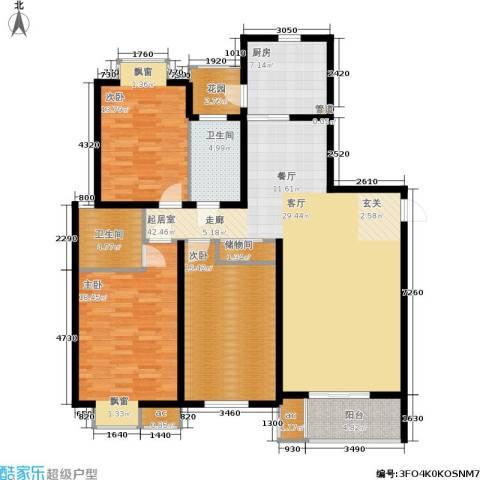 虹桥1号3室0厅2卫1厨134.00㎡户型图